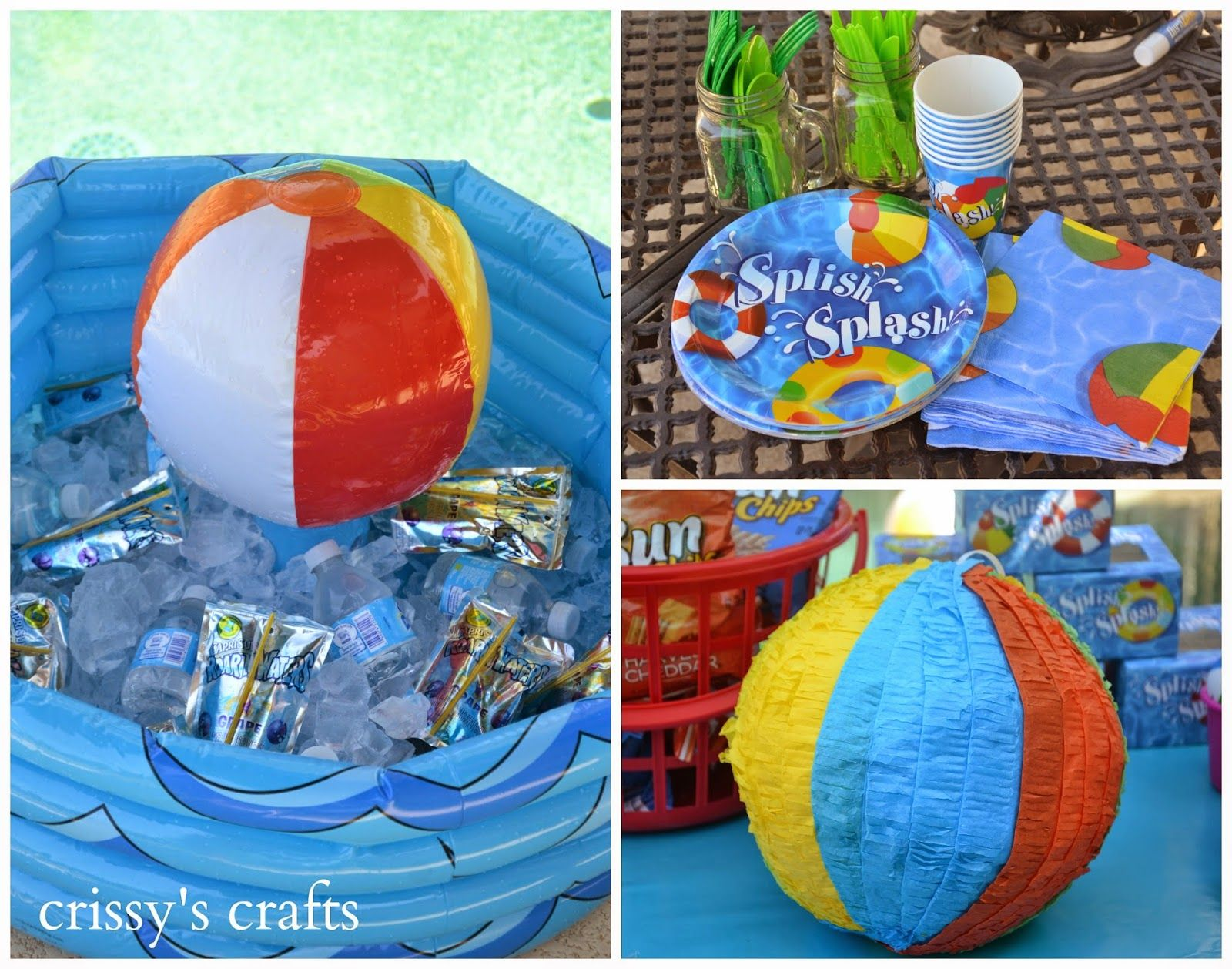 Decoraciones De Piscinas Crissy 39s Crafts Pool Party Summer 2014 Cumple Piscina