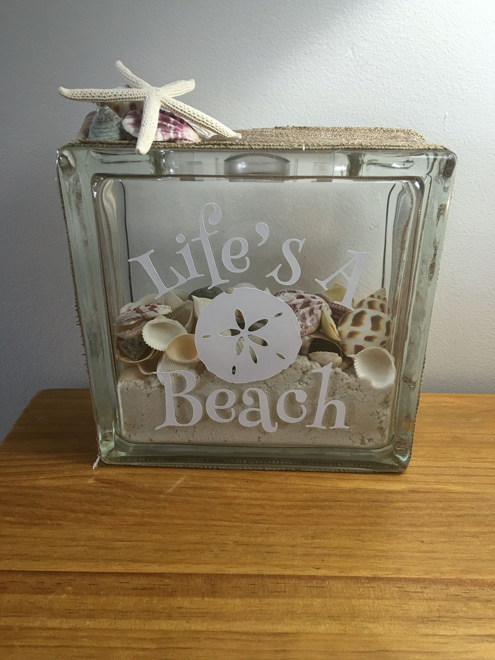 Deco Block Ideas Life 39s A Beach Glass Block Christmas Pinterest