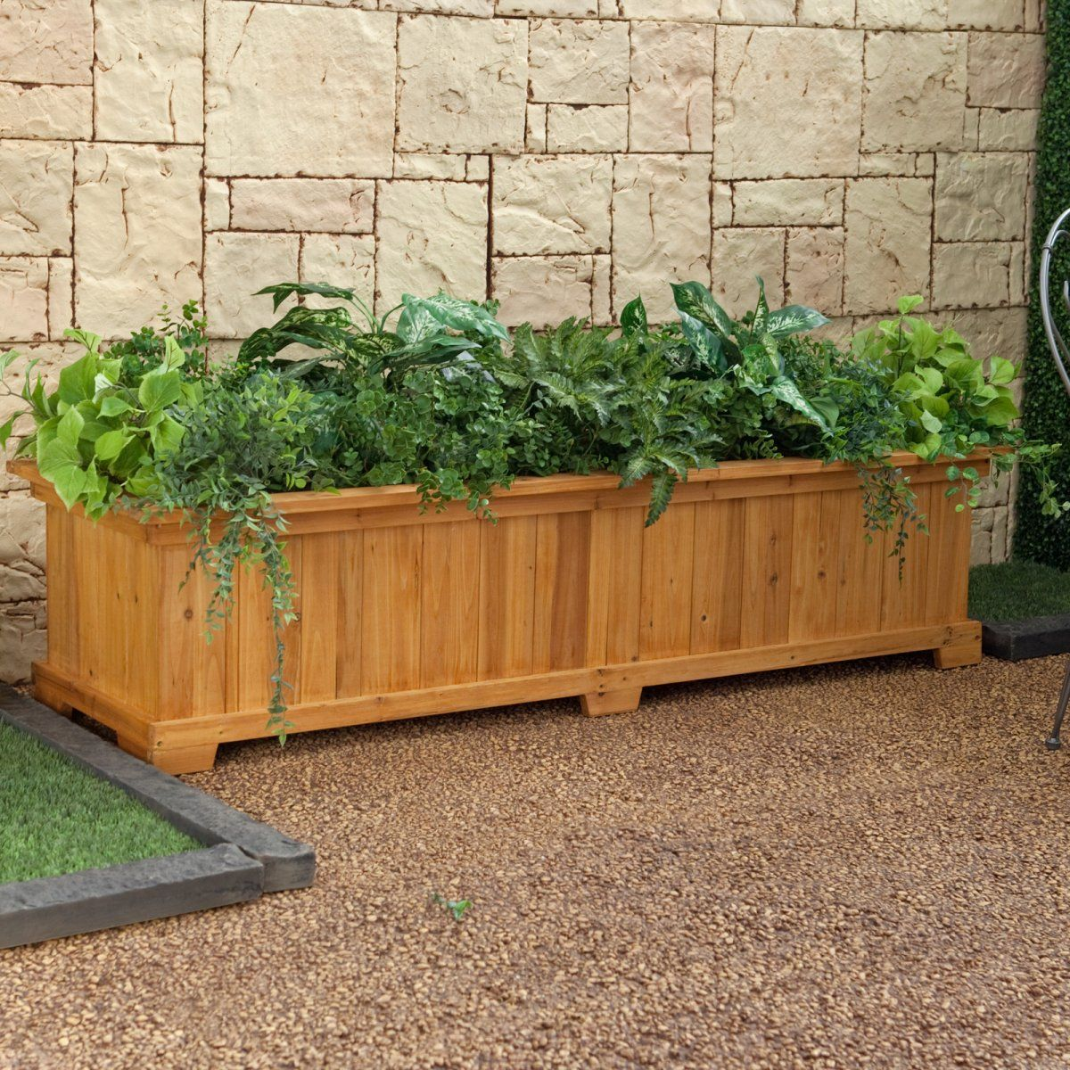 Box à Planter Rectangular Cedar Wood Aster Patio Planter Box Planter