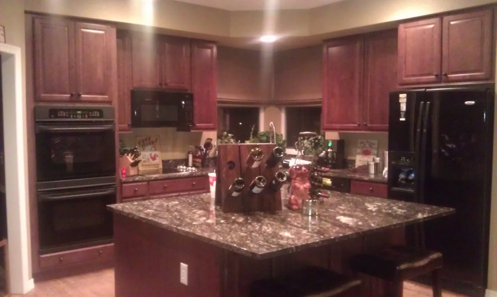 Black Kitchen Cabinets What Color On Wall Dark Cherry Kitchen Cabinets Wall Color