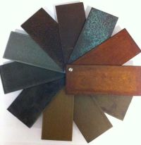 Special finishing: corten steel, bronze, copper, brass