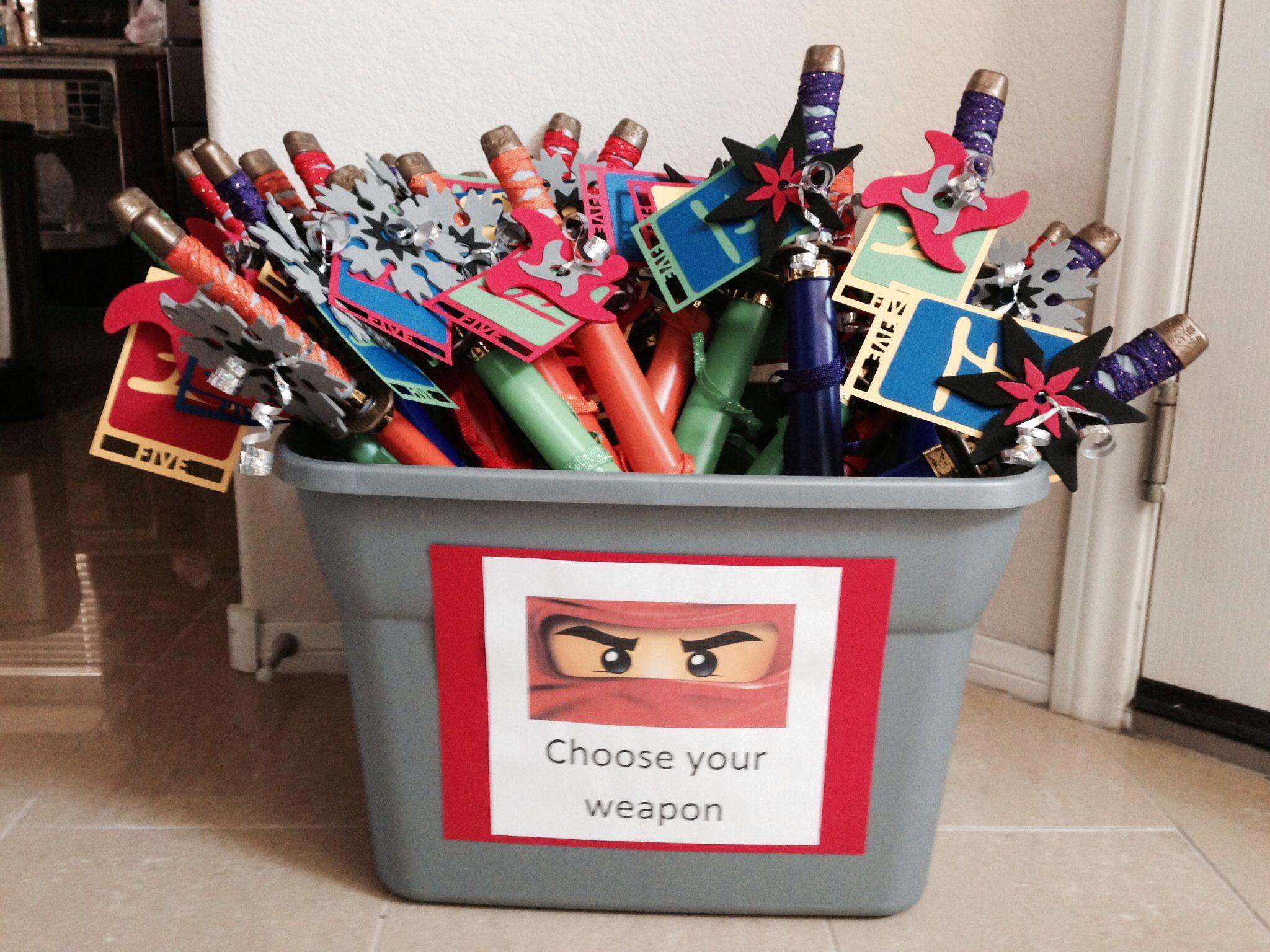Ninjago birthday party favors swords from amazon ninja stars from target