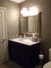 vinyl grasscloth wallpaper in my guest bathroom ...
