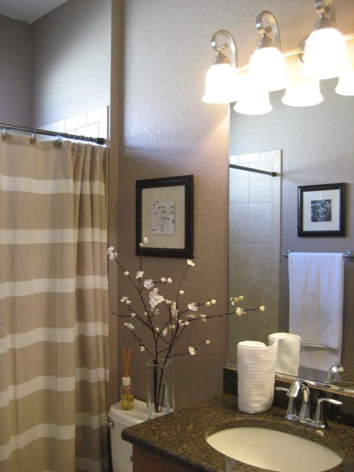 Small Guest Bathroom, Before all of the walls were a bland antique - guest bathroom decorating ideas