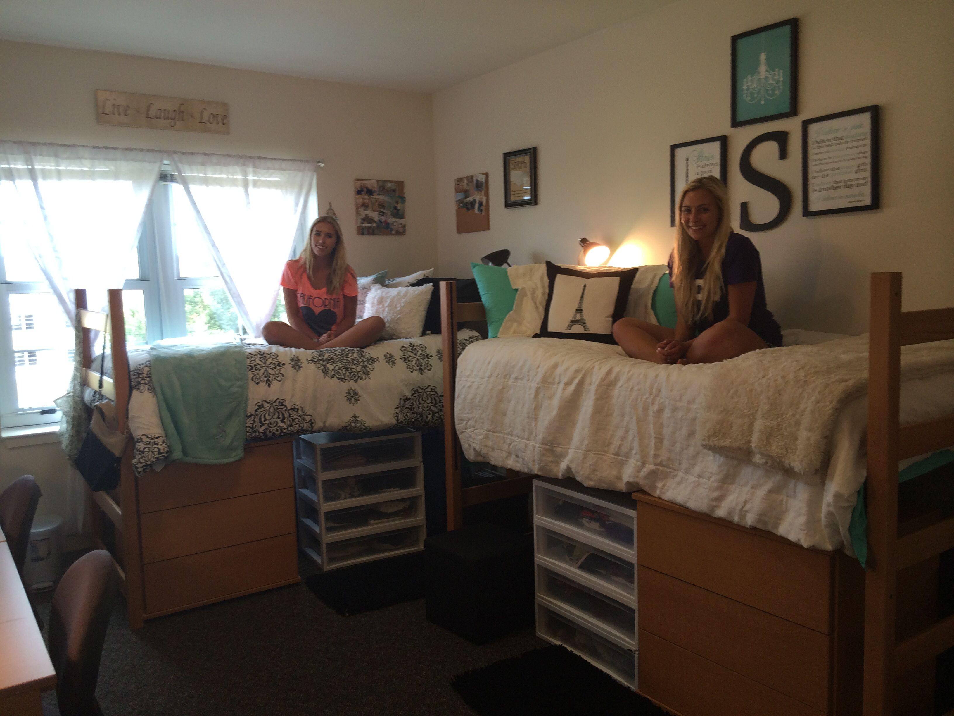 Organized and spacious dorm room tcu sherley hall