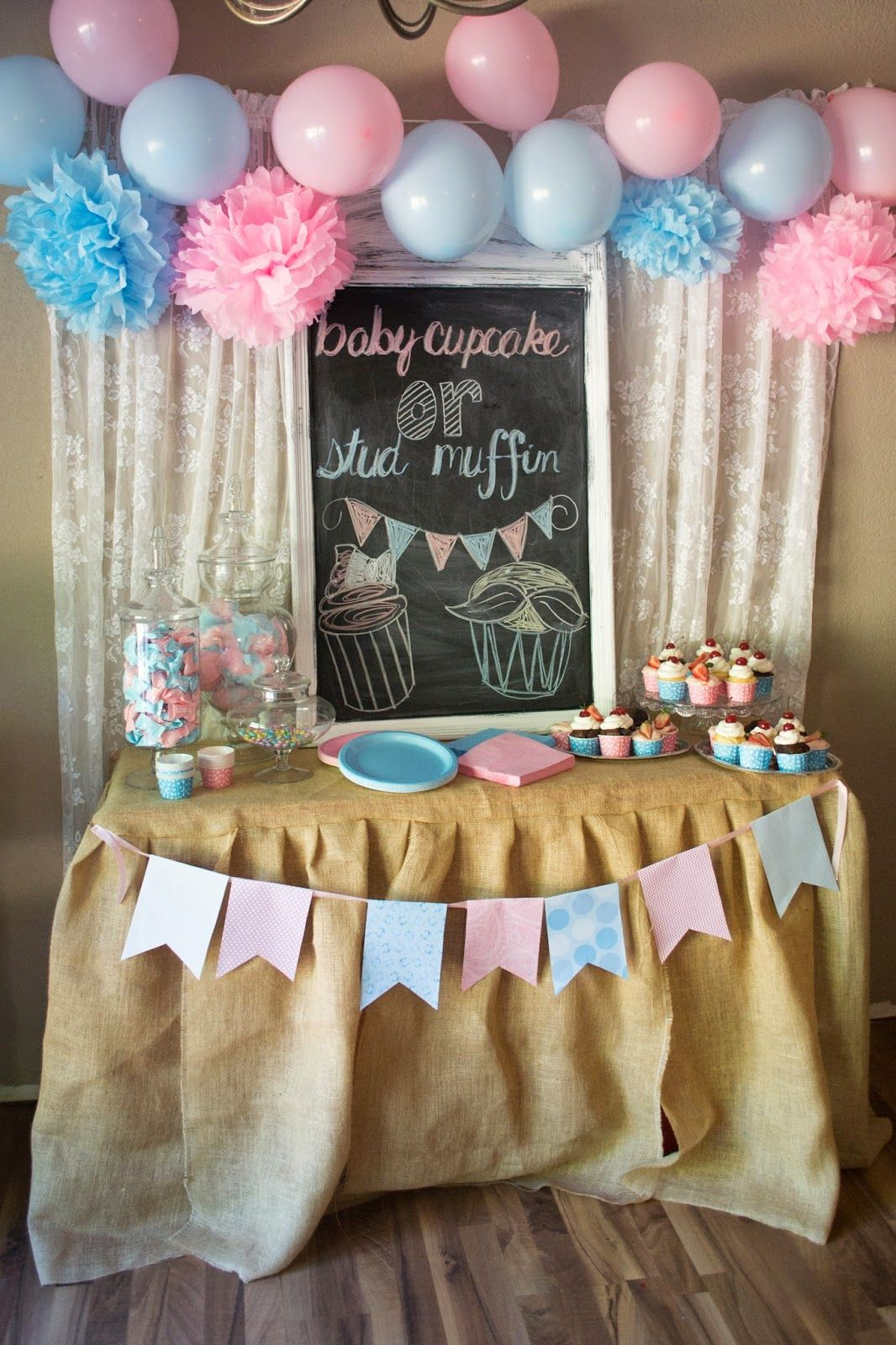 Diy Backdrop Stand For Dessert Table Foster Creativity Gender Reveal Dessert Table Birthday