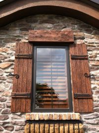 Our shutters are available in a variety of wood species ...