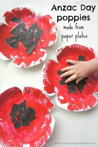 Anzac Day poppy craft made from paper plates | Spring, For ...