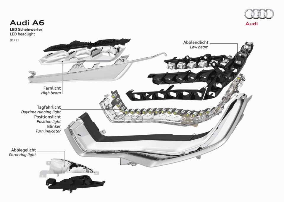 led headlights diagrama de cableado