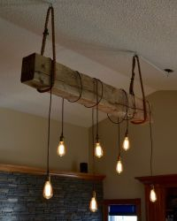 1930s structural beam Edison bulb light fixture project ...