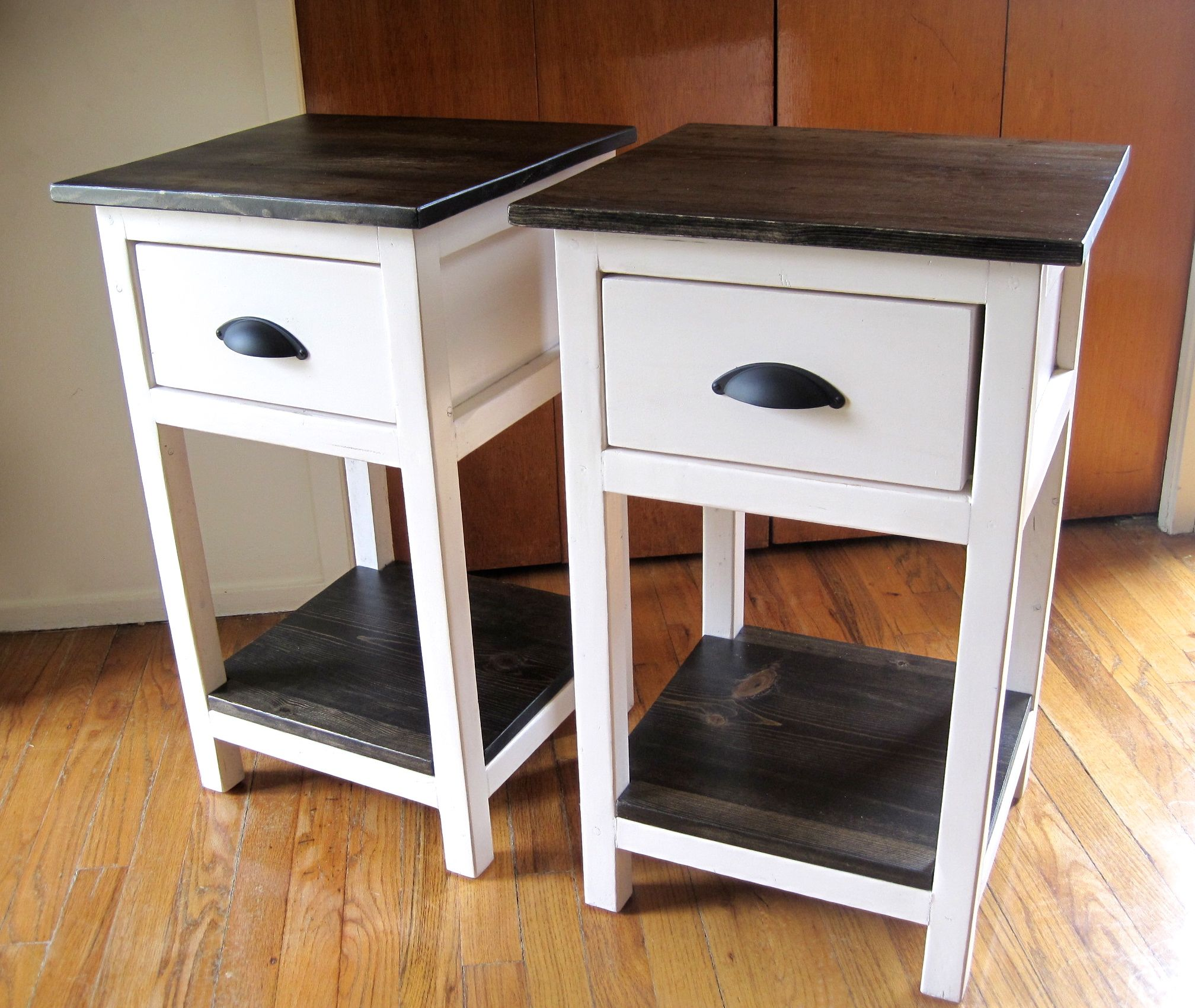Diy End Tables Plans Ana White Build A Mini Farmhouse Bedside Table Plans