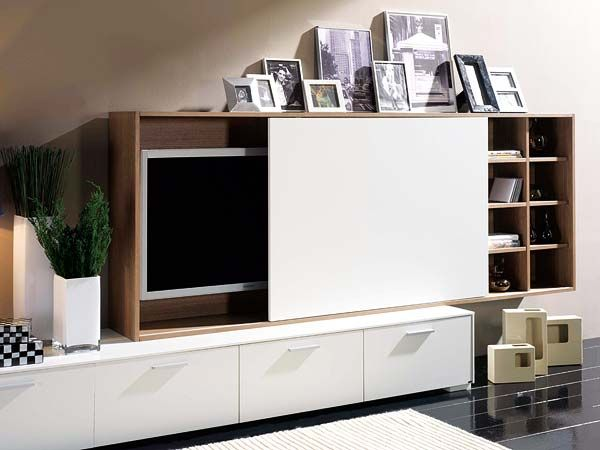 How to naturally integrate the TV in the living room Hide tv - tv in living room