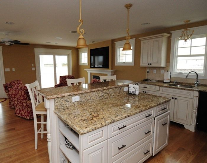 Granite Top Kitchen Island With Seating Kitchen Countertops | Granite Countertop : White Kitchen