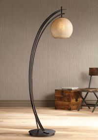 Possini Euro Venus Oil Rubbed Bronze Metal Arc Floor Lamp ...
