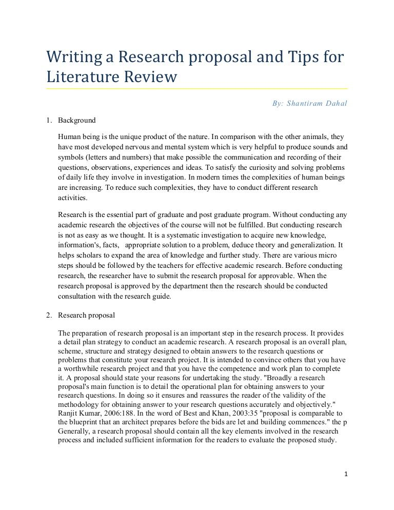 research-proposal-tips-for-writing-literature-review by Elisha - literature review
