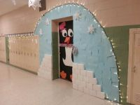 My classroom for the Winter Door Decorating contest ...