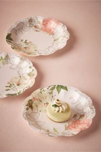 paper floral cake plates | Corsage Paper Plates from BHLDN ...