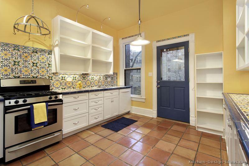 mexican backsplash tiles kitchen Pictures of Kitchens - mexican kitchen design