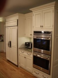 Gourmet kitchen, white cabinets, kitchen cabinets, double ...