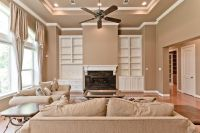 living room paint divider ideas two-toned | Ceiling ...