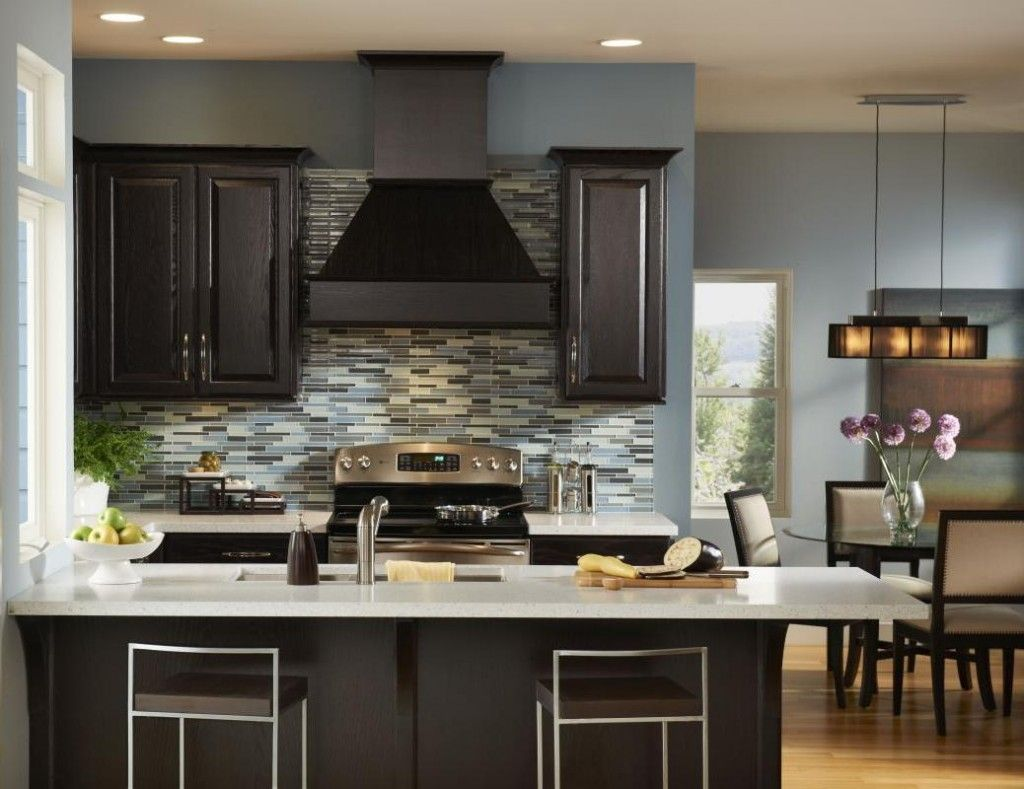 Top modern kitchen colors with dark cabinets kitchen paint
