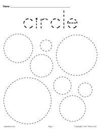 12 FREE Shapes Tracing Worksheets! | Tracing shapes ...