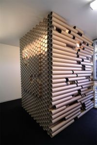 Paper tube office. An exciting example to enrich the craft ...
