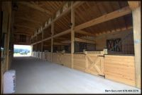Barn Plans -10 Stall Horse Barn - Design Floor Plan ...
