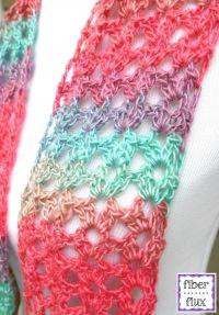 Fiber Flux: Free Crochet Pattern...Island Lace Scarf