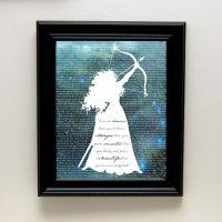 Disney Princess Silhouette - Brave Quote / Merida ...