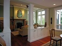 Living Room/Dining Room Divider Cabinetry w/Storage