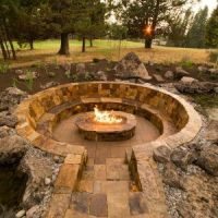 Surprising Sunken Fire Pit Drainage Photo Design Ideas ...
