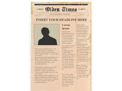This website has some great templates! Editable Newspaper Template - online newspaper template