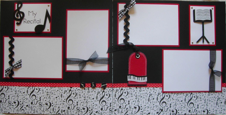 My recital 12x12 premade scrapbook pages music violin piano 13 50 via etsy