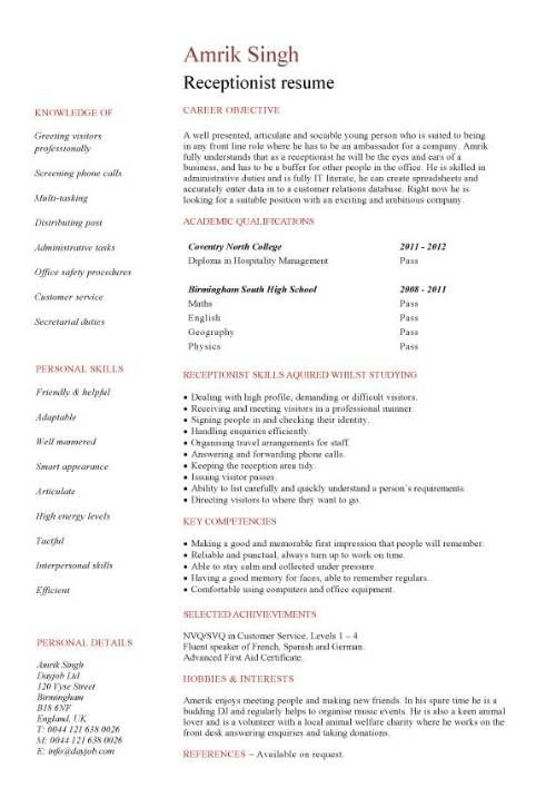 Medical Receptionist Resume With No Experience #907 - http - medical office receptionist resume