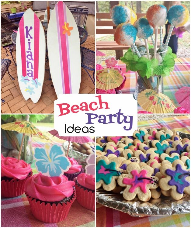 Beach Party Birthday Birthday Diy Birthdays And