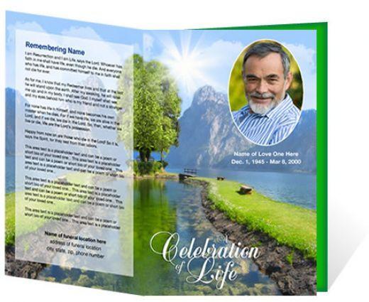 Funeral Brochure Template Free Microsoft sample funeral program - free download funeral program template