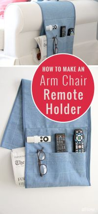 How to Make an Arm Chair Remote Holder | Remote caddy ...