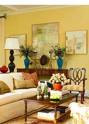 Yellow Living Room Walls Ideas Decorating Room Color - cozy living room colors
