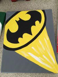 Batman canvas | Batman Bedroom | Pinterest | Batman ...