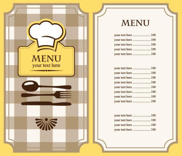 Free Restaurant Menu Template Free EPS file Set of cafe and - sample menu template