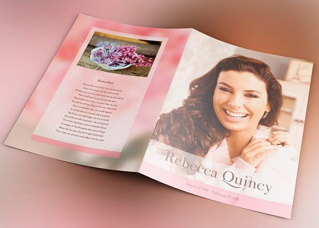 Glamour Funeral Program Template is a modern memorial or funeral - funeral program template microsoft