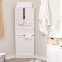 Corner linen cabinet tower | BATHROOM LIKES | Pinterest ...