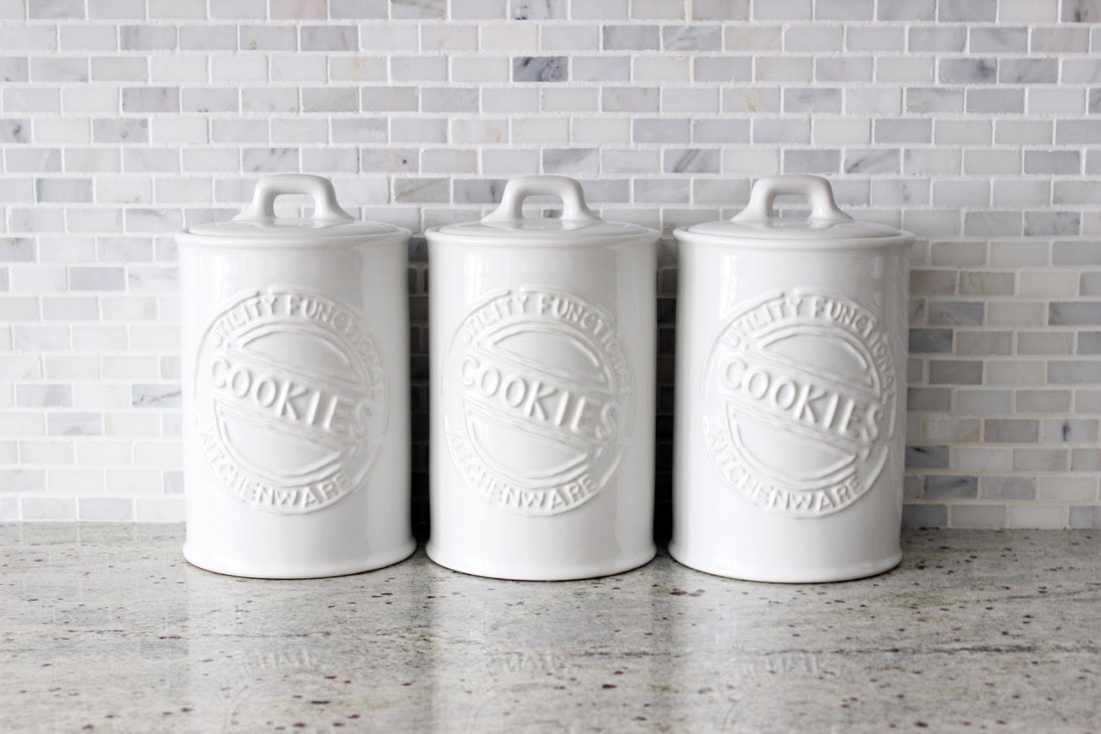 Ceramic Cookie Jar Sets White Ceramic Cookie Jars Kitchen Storage Kitchen