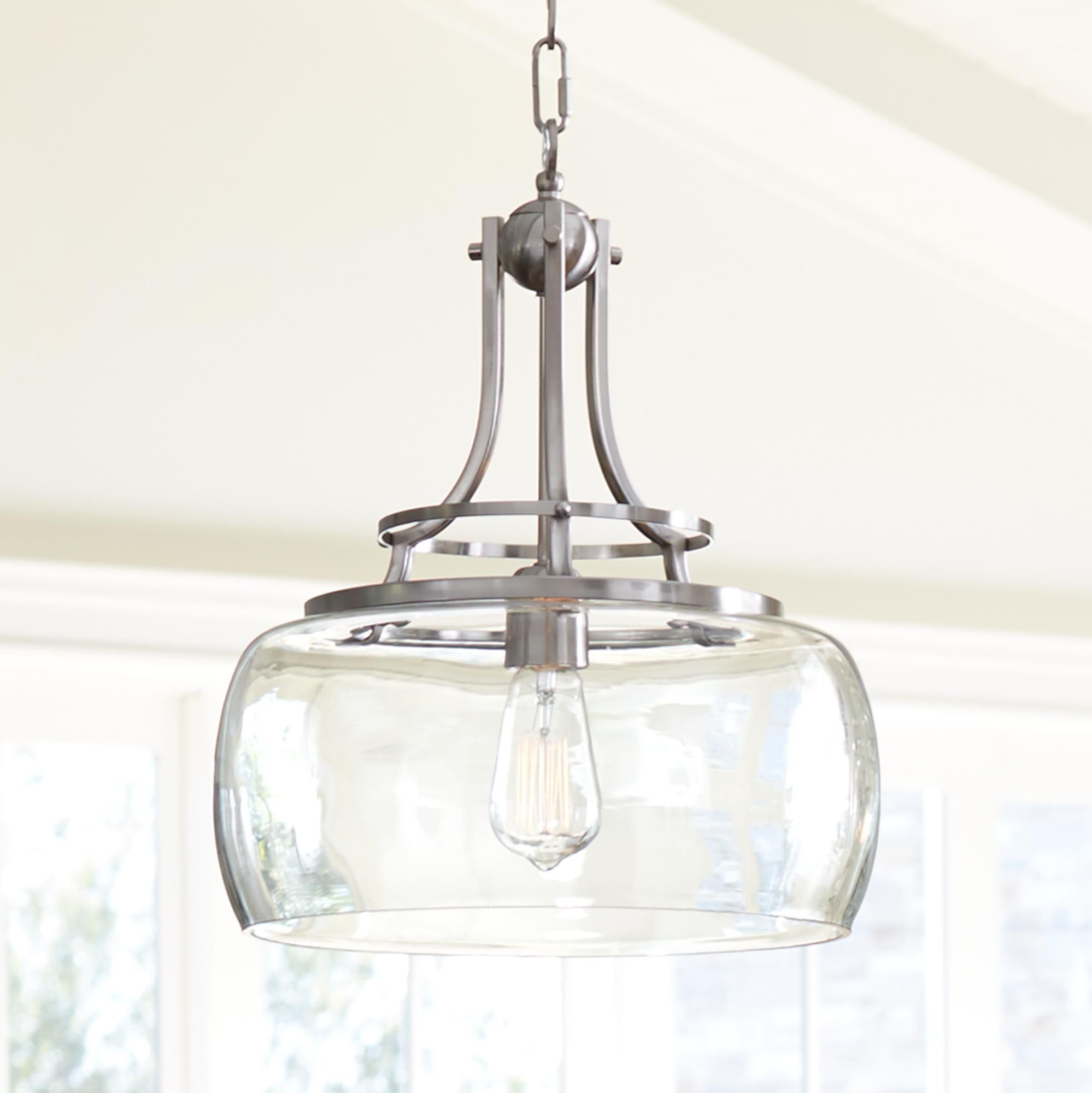 Pendant Lighting Brushed Nickel Charleston 13 1 2 Quot Wide Brushed Nickel Pendant Light