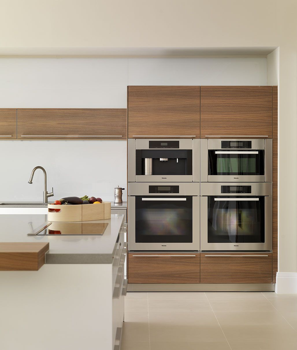 Miele Kitchen Design Contemporary White And Wood Kitchen Block Of Miele