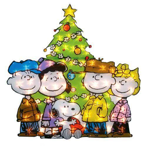 Lighted PEANUTS SNOOPY GANG Christmas Tree Holiday Outdoor Decor - peanuts outdoor christmas decorations