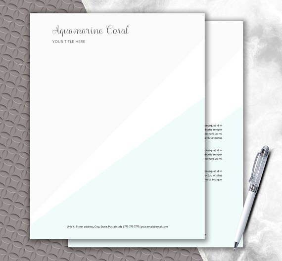 Personalized Letterhead DIY Stationery Writing Paper ♥ ETSY - personal letterhead template
