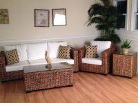 Wicker Sunroom Furniture | Los Cabos Seagrass Sunroom ...