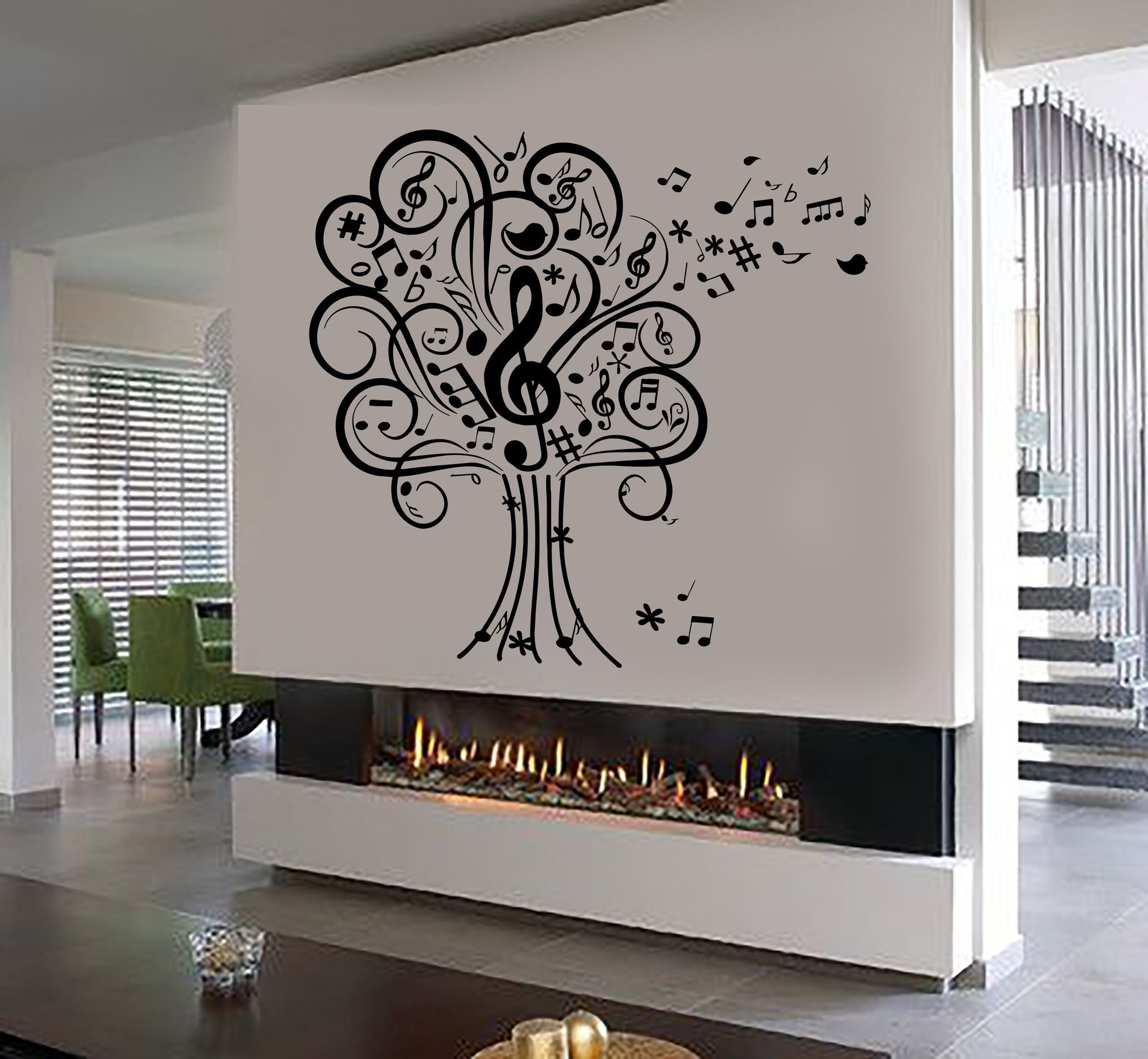Vinyl Wall Decal Vinyl Wall Decal Musical Tree Music Art House Interior